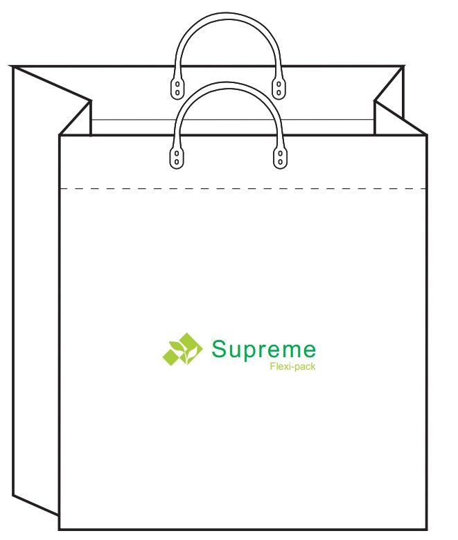 plastic handle shopping bag