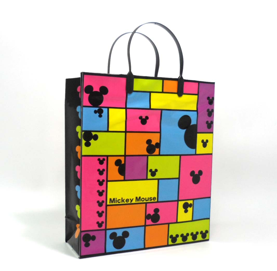 shopping bag with clipped handle